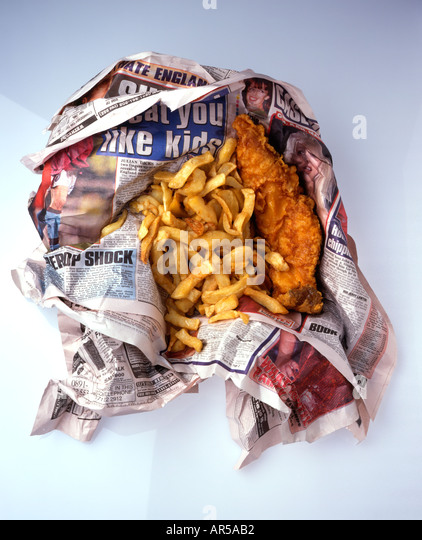 Fish and chips newspaper stock photos fish and chips for Fish and chips newspaper