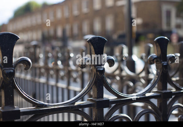 Detail Of Railings On London Street.   Stock Image