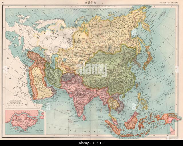 Map of singapore stock photos map of singapore stock images alamy asia large inset map of singapore island ottoman empire bartholomew 1898 publicscrutiny Images