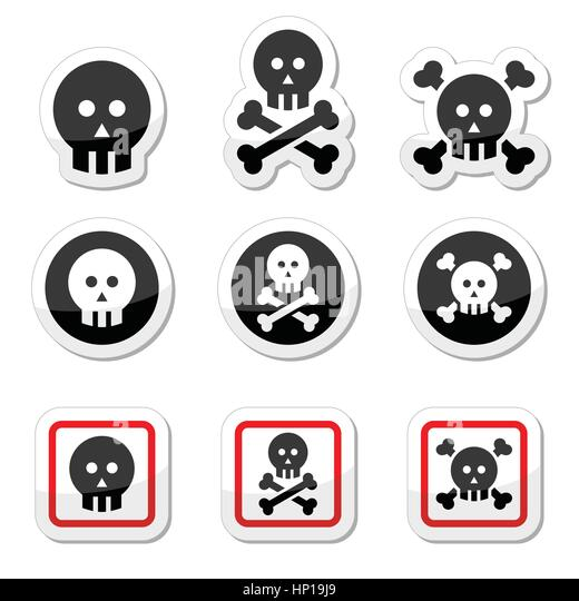 death skull and cross bones stock vector