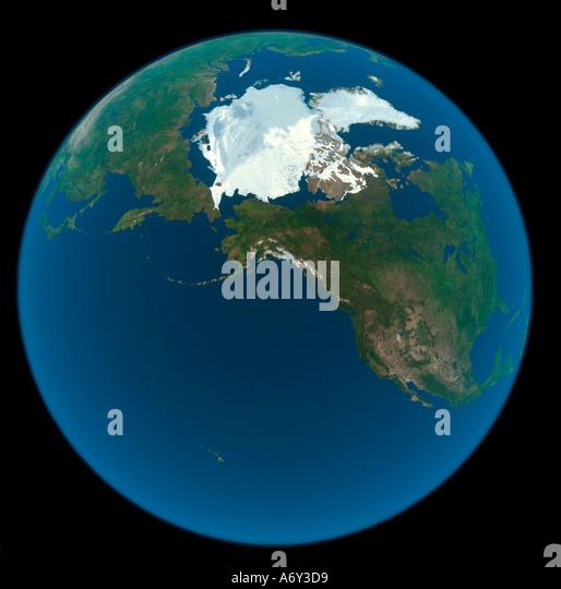 Globe Map Arctic Circle Stock Photos  Globe Map Arctic Circle