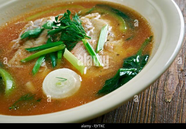 Maeuntang Hot Spicy Korean Cuisine Fish Soup Stock Image
