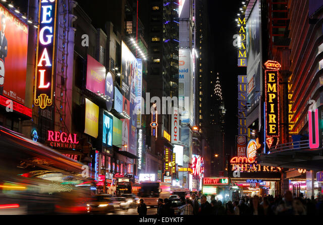 W 42nd Street Stock Photos & W 42nd Street Stock Images ...