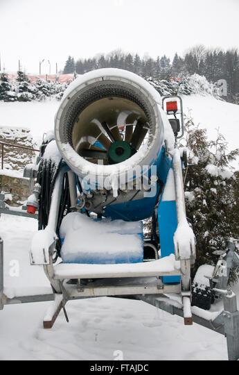 Fake snow machine stock photos