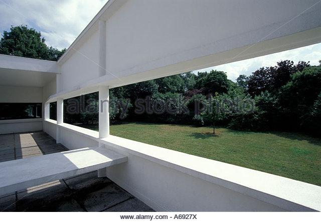 Terrasse Villa Savoye : Villa Savoye Stock Photos u0026 Villa Savoye Stock Images Alamy