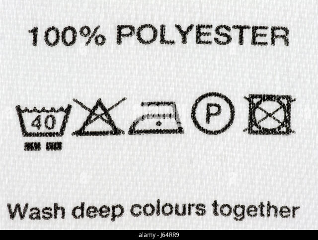 Polyester Clothes Wash Care Instructions Stock Photos Polyester