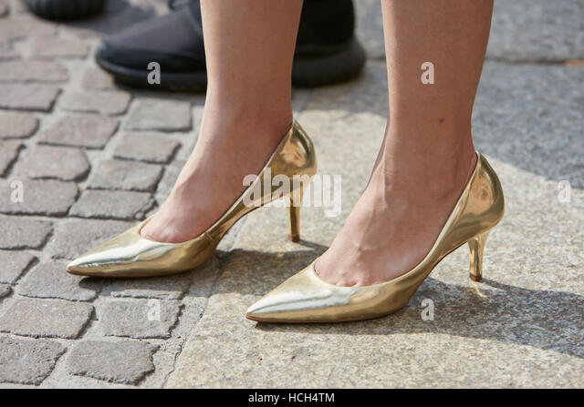 high heel gold shoes stock photos high heel gold shoes