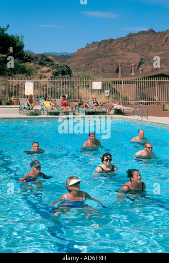 Water Aerobics Pool Vacation Stock Photos Water Aerobics Pool Vacation Stock Images Alamy