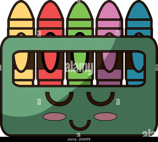 cute crayons cartoon stock image - Cartoon Pictures Of Crayons
