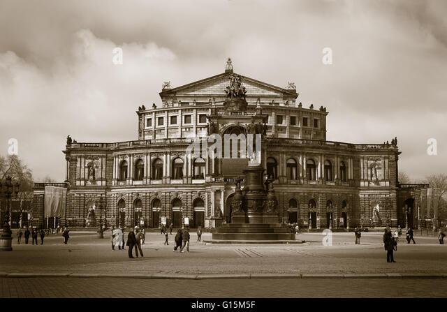 Semper Opera,Dresden, Germany,   Stock Image