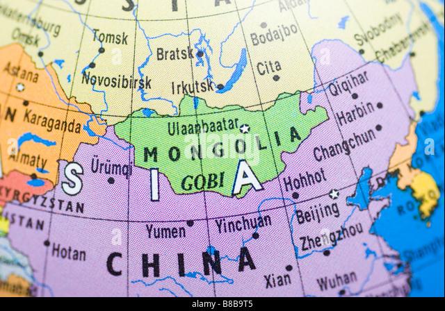 Mongolian Peoples Republic Stock Photos Mongolian Peoples - Peoples republic map