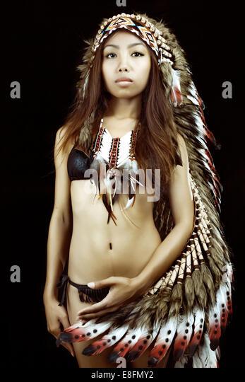 Women indian american teen Beautiful native