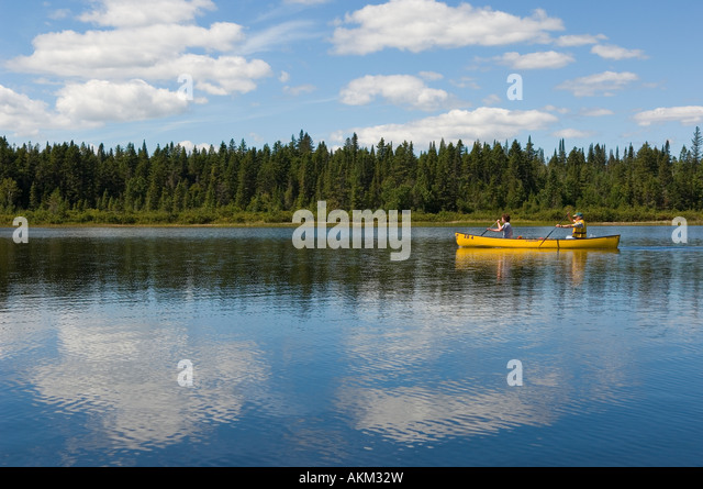 Laurentian mountains lake stock photos laurentian for Lac miroir mont tremblant