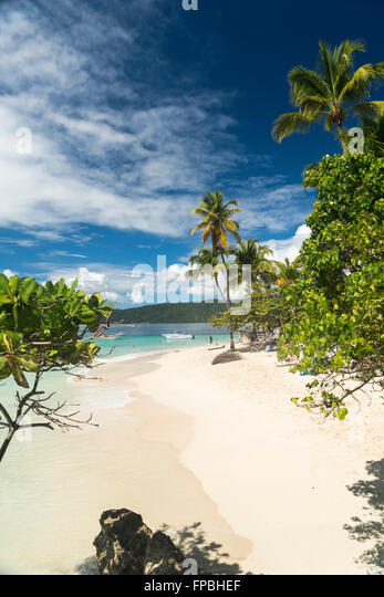 Dominican Republic Peninsula Cayo Levantado Stock Photos