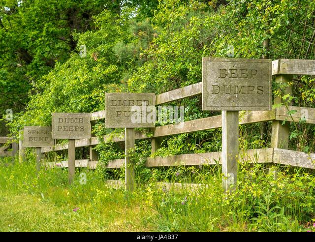 Quirky Garden Sign Stock Photos & Quirky Garden Sign Stock Images ...