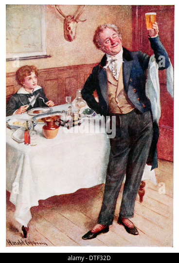 character charles john huffam dickens david copperfield stock  david copperfield and the friendly waiter illustration from the novel by charles john huffam dickens