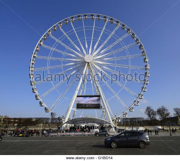 grande roue de paris stock photos grande roue de paris stock images alamy. Black Bedroom Furniture Sets. Home Design Ideas