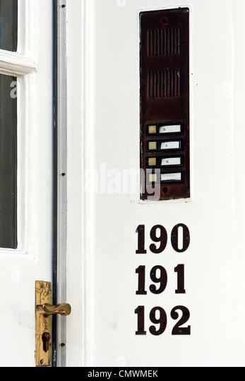 flats entrance door stock photos flats entrance door