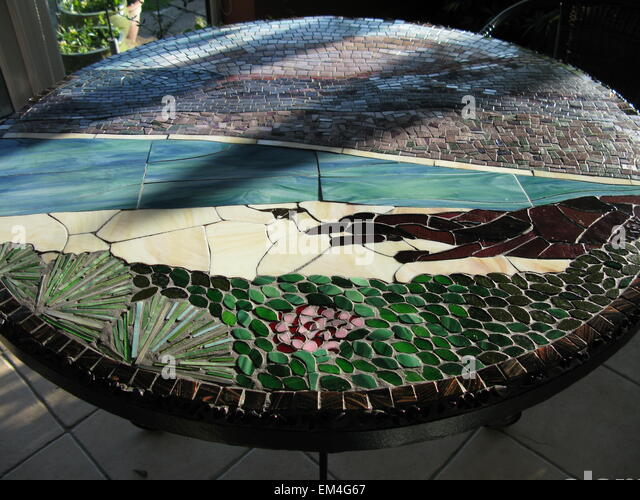 Unique furniture stock photos unique furniture stock images alamy a mosaic table depicting a hebridean beach scene stock image voltagebd Images