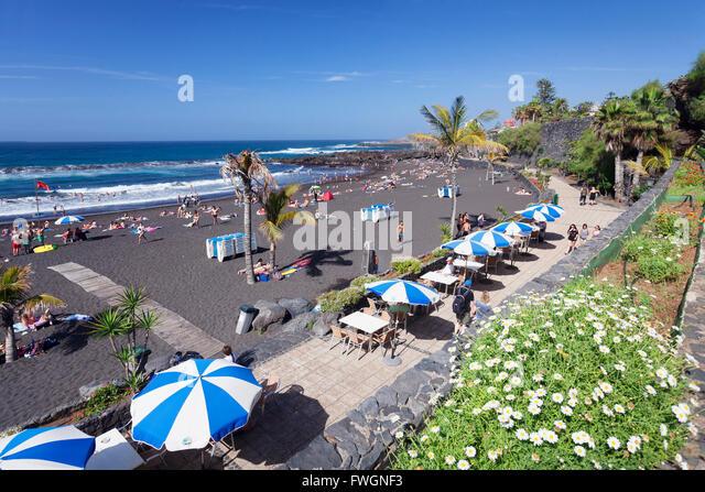 Tenerife puerto de la cruz beach stock photos tenerife - Playa jardin puerto de la cruz tenerife ...