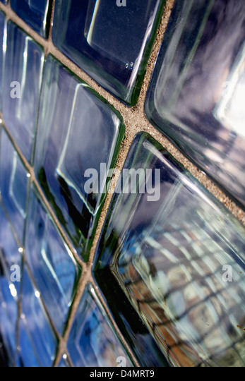blue glass bricks stock photos blue glass bricks stock images alamy. Black Bedroom Furniture Sets. Home Design Ideas