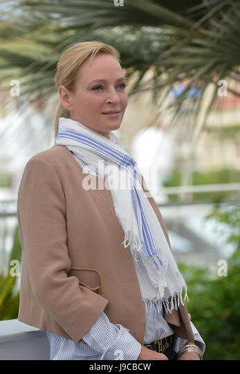70th edition of the Cannes Film Festival: actress Uma Thurman, president over the jury of 'Un certain Regard', - Stock Image