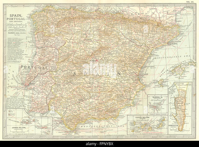 Map Of Azores Islands Stock Photos Map Of Azores Islands Stock - Map portugal madeira azores