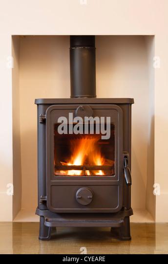 wood burning stoves fireplace stock photos wood burning