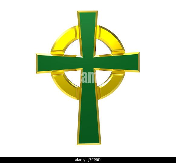 Cross Celtic Christianity Faith God Irish Render Symbol Stock Photos
