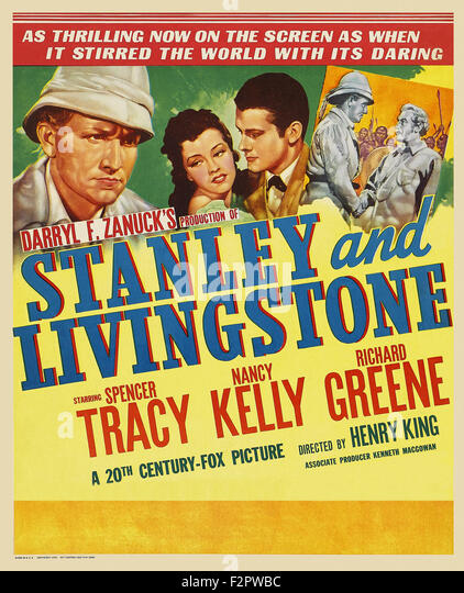 Stanley And Livingstone   Movie Poster   Stock Image