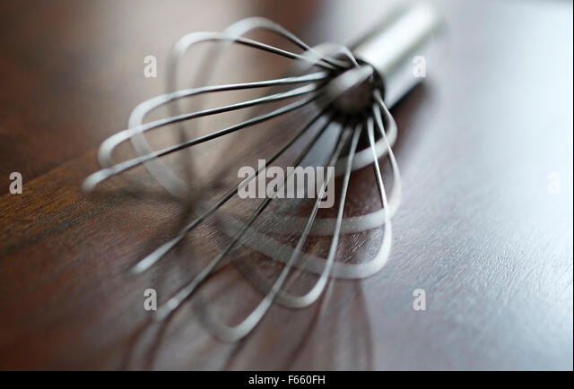 Kitchen Whisk Utensil On Table Top   Stock Image