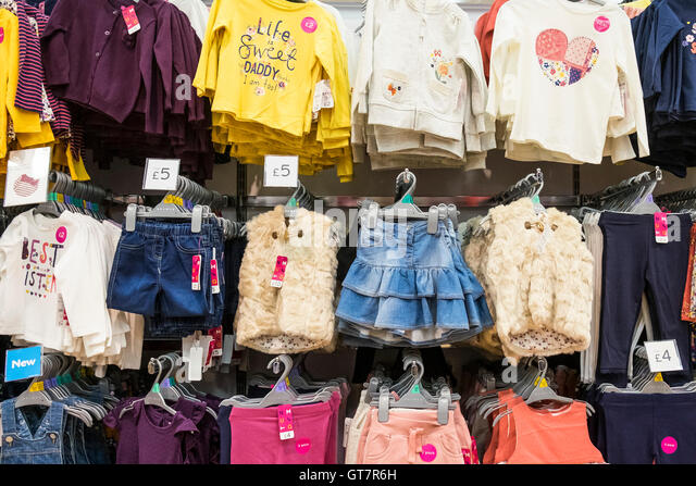 childrens clothing store display stock photos childrens. Black Bedroom Furniture Sets. Home Design Ideas