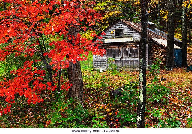 Maine Autumn House Stock Photos Maine Autumn House Stock Images Alamy