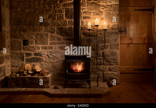 Wood Burning Stove House Stock Photos Wood Burning Stove House Stock Images Alamy