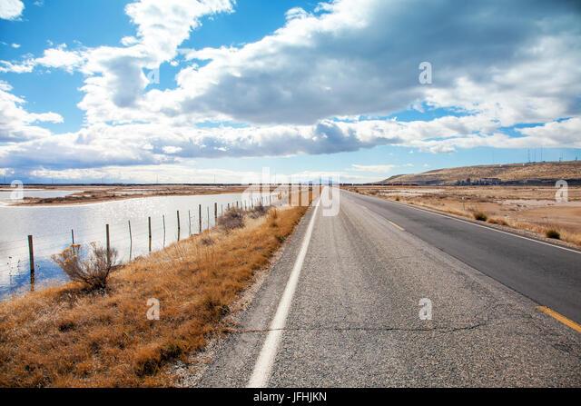 Landscape at the salt lake in Salt Lake City Utah - Stock Image - Salt Lake City Landscape Stock Photos & Salt Lake City Landscape