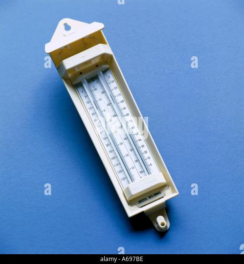 Maximum and minimum thermometer diagram