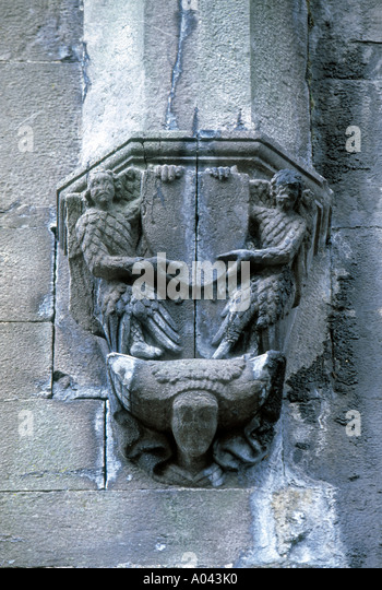 Ireland stone carving stock photos