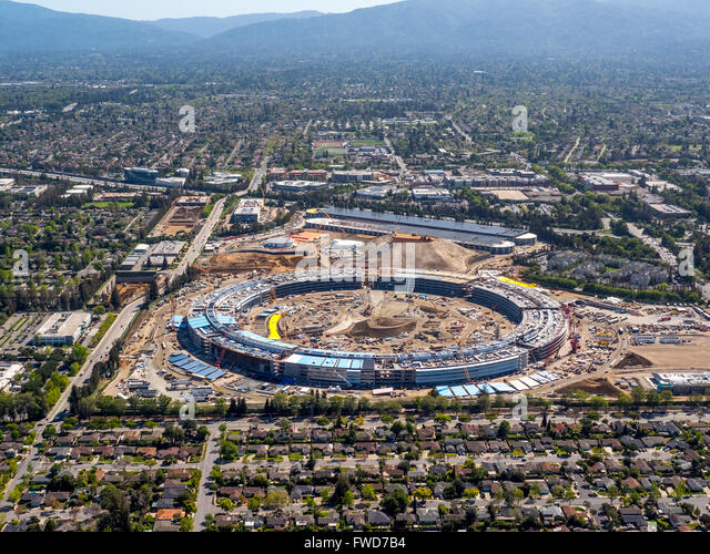 Apple Campus Apple Campus Cupertino Stock Photos  Apple Campus