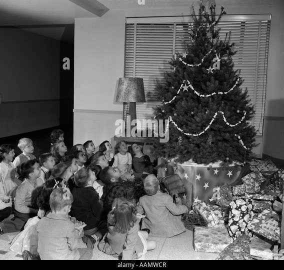 Decorated Christmas Tree Black and White Stock Photos & Images - Alamy