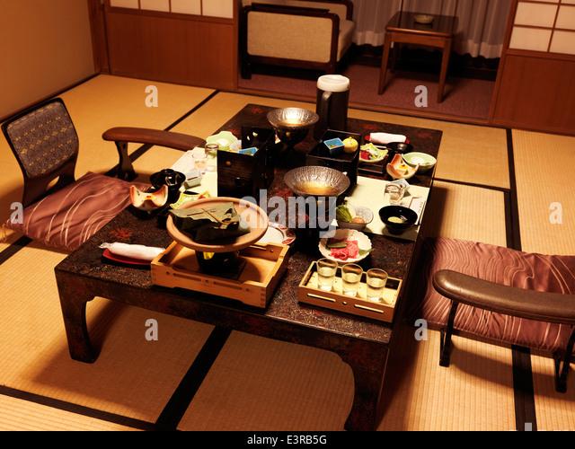 Japanese Dinner Table japan dinner table stock photos & japan dinner table stock images