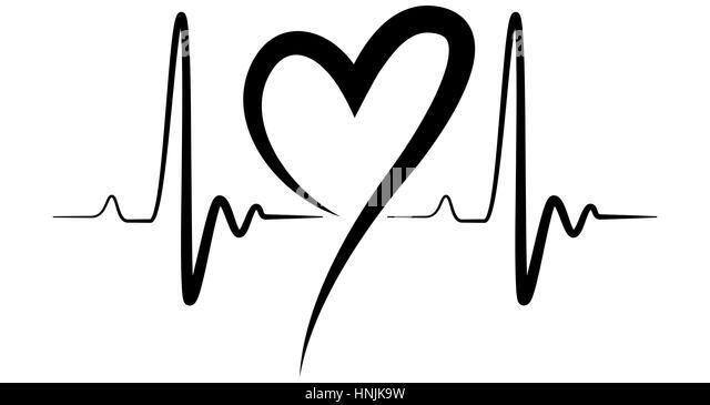 Heartbeat Line Black And White   www.pixshark.com - Images ...