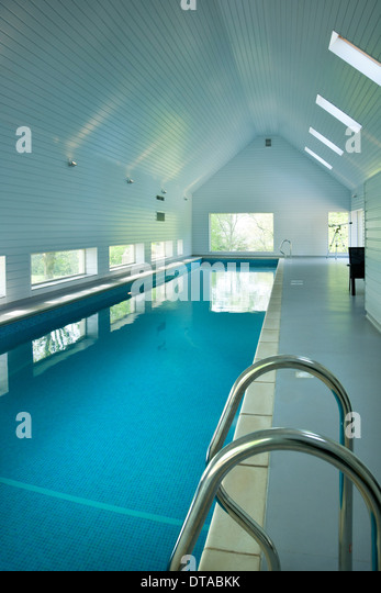 Private Indoor Swimming Pools indoor swimming pool at home uk stock photos & indoor swimming