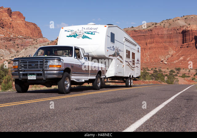 USA Utah Capitol Reef Nationwide Park Highway Mobile Home