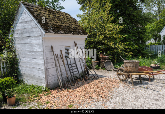 Garden Sheds Virginia garden tool shed stock photos & garden tool shed stock images - alamy