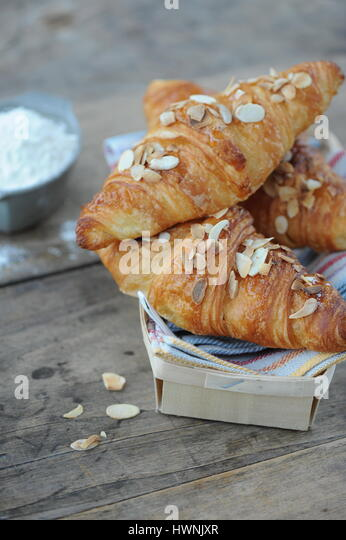 almond croissants stock photos almond croissants stock. Black Bedroom Furniture Sets. Home Design Ideas