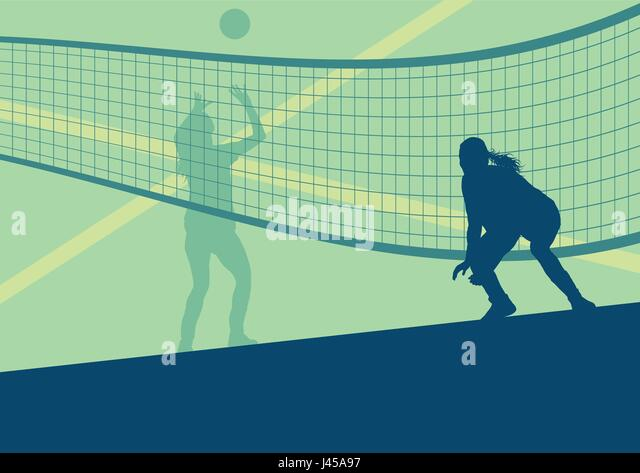 Volleyball Abstract Stock Photos Volleyball Abstract: Volleyball Beach Stock Vector Images