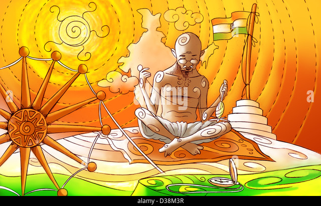 role of gandhi in the national Mahatma gandhi arrived in india from south africa in 1915 after leading leading a movement there against apartheid in india, he took over the leadership of the congress.
