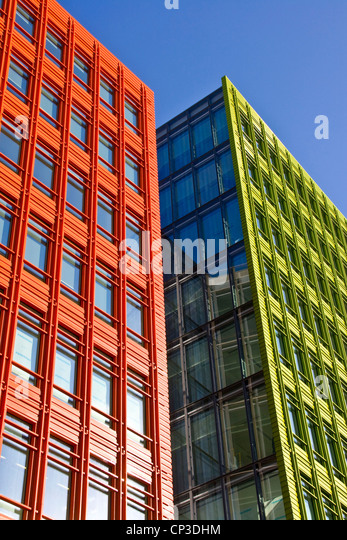 central st giles vivid bright colorful mixed use development by renzo piano st giles high street brightly colored offices central st