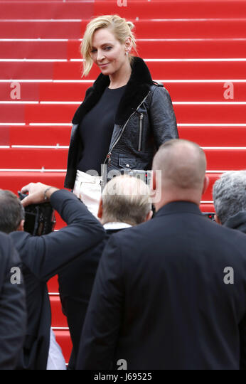 Uma Thurman at the 'Nelyubov / Loveless' premiere during the 70th Cannes Film Festival at the Palais des - Stock Image