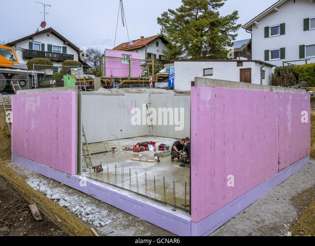 Building prefabricated walls stock photos building for Prefab basement walls